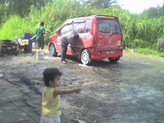 cuci kereta perodua kenari