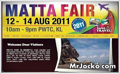 Review Promosi Matta Fair 2011 Exhibition di PWTC