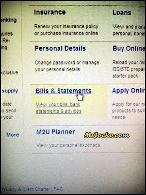 Print Online Statement Maybank2U