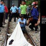 Gambar Pelajar Di Langgar Keretapi Segamat