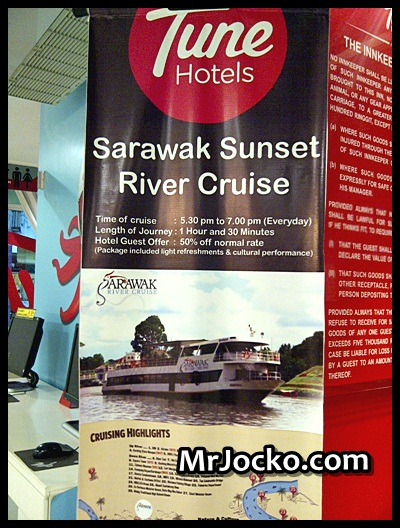 Promosi Diskaun 50% Tiket Sarawak River Cruise Di Tune Hotel