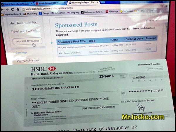 Income Dari Blog Bulan Jun