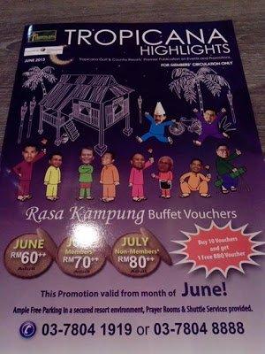 Promosi Buffet Rasa Kampung Di Tropicana Golf Resort