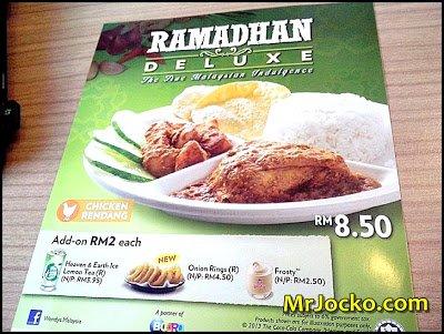 Promosi Ramadhan Deluxe Wendy's Restaurant
