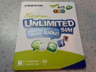 Sim Card Thailand Unlimited Use Untuk Social Apps