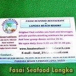 Fasai Seafood Langka Beach Resort Pakbara