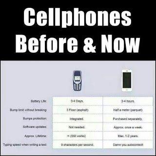 Beza Telefon Handphone Dulu Dan Sekarang