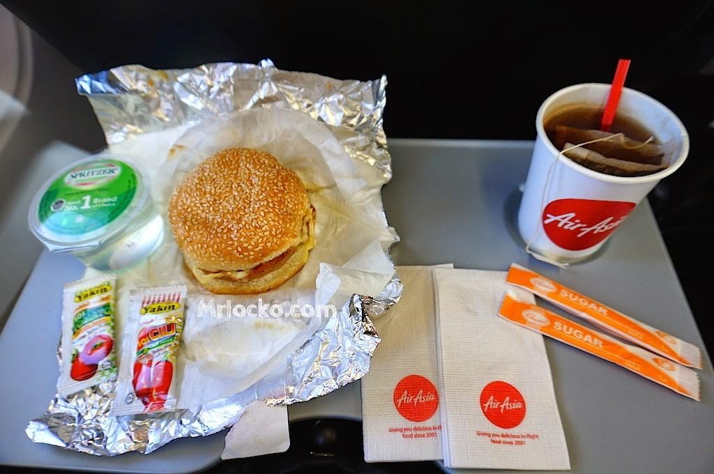 Cheesy Chicken Burger In A Sesame Bun AirAsia