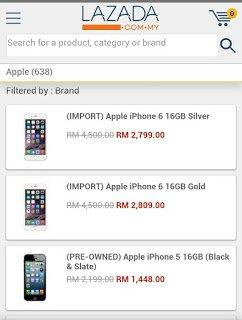Harga iPhone 6 Di Malaysia Paling Murah 16GB RM2799 Di Lazada