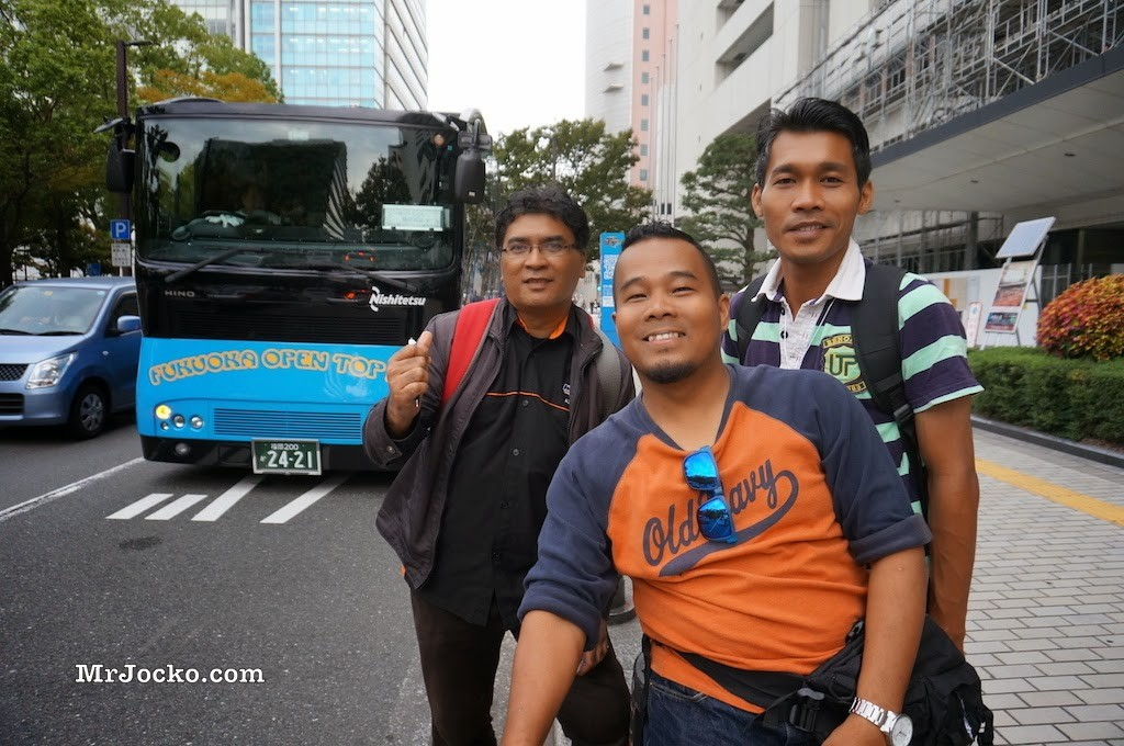 Fukuoka Open Top Bus : Keliling Bandar Dengan Tour Bus