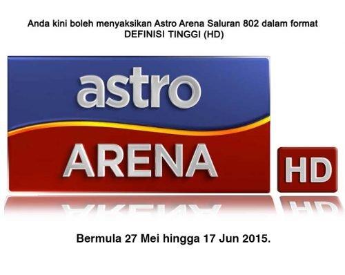 Saksikan Astro Arena Saluran 802 HD Sukan SEA Singapura 2015