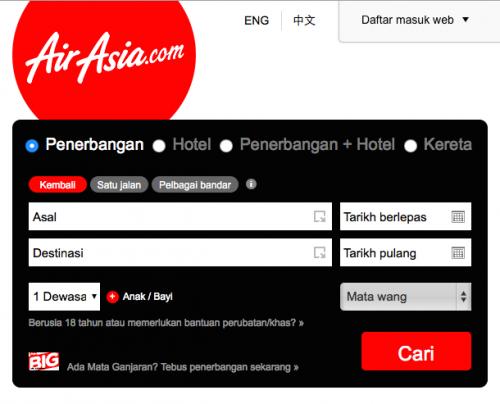 Cara Beli Tiket AirAsia