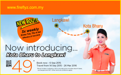 Fireflyz Airlines New Route Kota Bharu To Langkawi