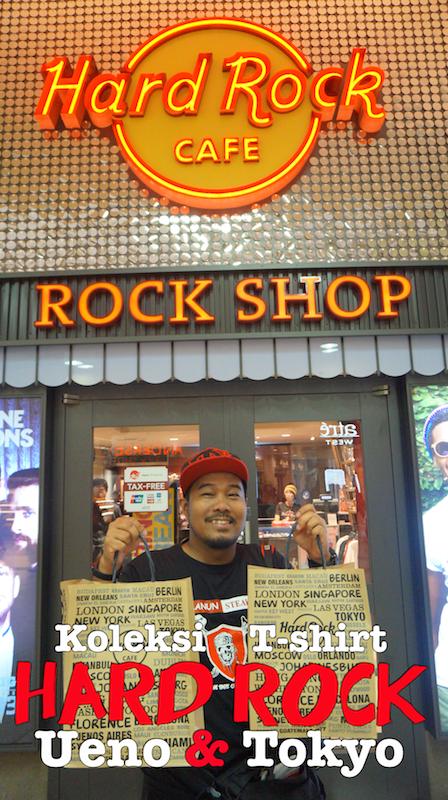 Koleksi T-Shirt Limited Edition Hard Rock Tokyo & Ueno