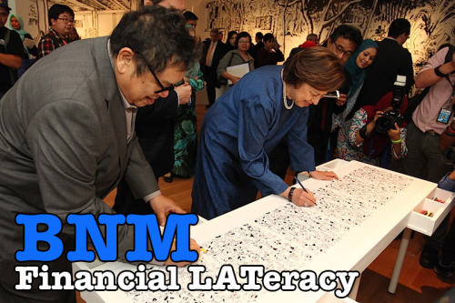 Financial LATeracy Exhibition By Datuk Lat At Bank Negara