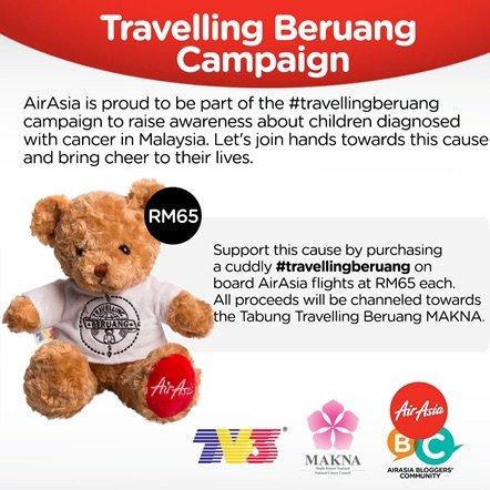 Campaign #TravellingBeruang AirAsia MAKNA