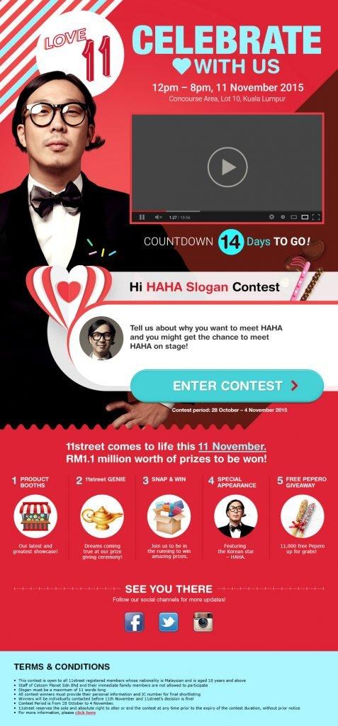 11Street Bersedia Untuk Sambut 'LOVE 11' Day Di Malaysia