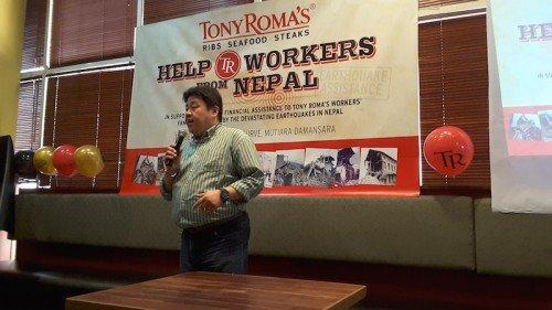 Lets Celebrate Tony Romas & Sumbangan TR Kepada Pekerja Nepal