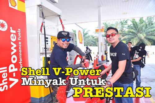 Minyak Petrol Shell V-Power Racing Berwarna Biru