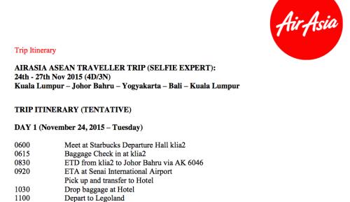 Trip KL JB Jogja Bali Asean Traveller Selfie Expert