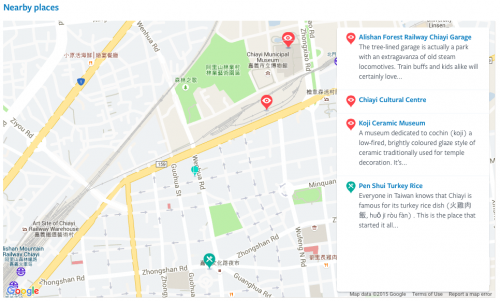 Map_Wenhua Road Night Market di Chiayi Taiwan