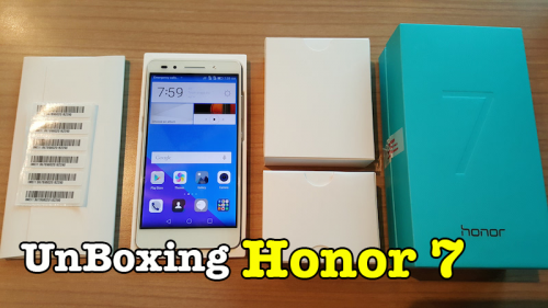 Unboxing Huawei Honor 7