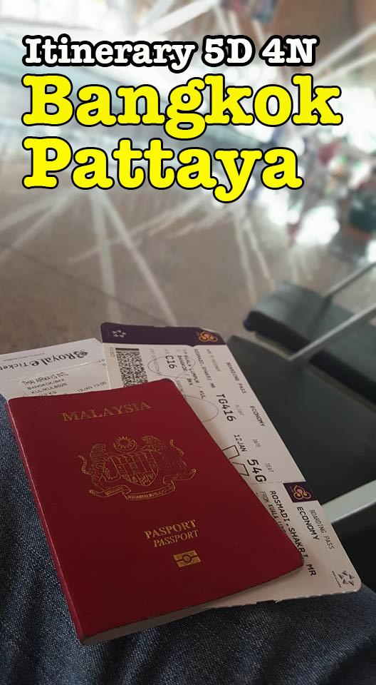Pakej Itinerary 5 Days 4 Nights Bangkok Pattaya Yang Menarik
