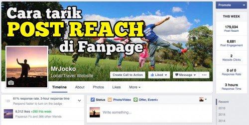 cara tarik post reach di fanpage