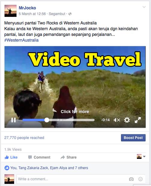 Pembaca Lebih Suka Video Travel Berbanding Gambar Travel