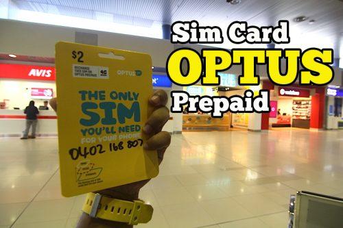 Optus Sim Card Prepaid Australia