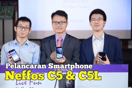 Pelancaran Telefon Neffos C5 Dan C5L Di Malaysia