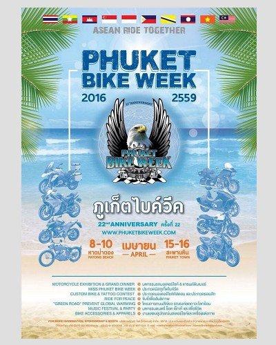 Phuket Bike Week 2016 Pada 8 Hingga 16 April 2016