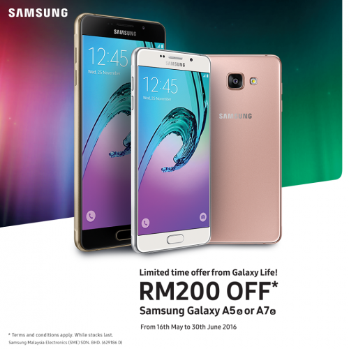 Get RM200 Off Purchase of Samsung Galaxy A 2016