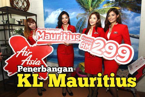 AirAsiaX Umum Penerbangan KL Mauritius Jualan 26 Mei 2016