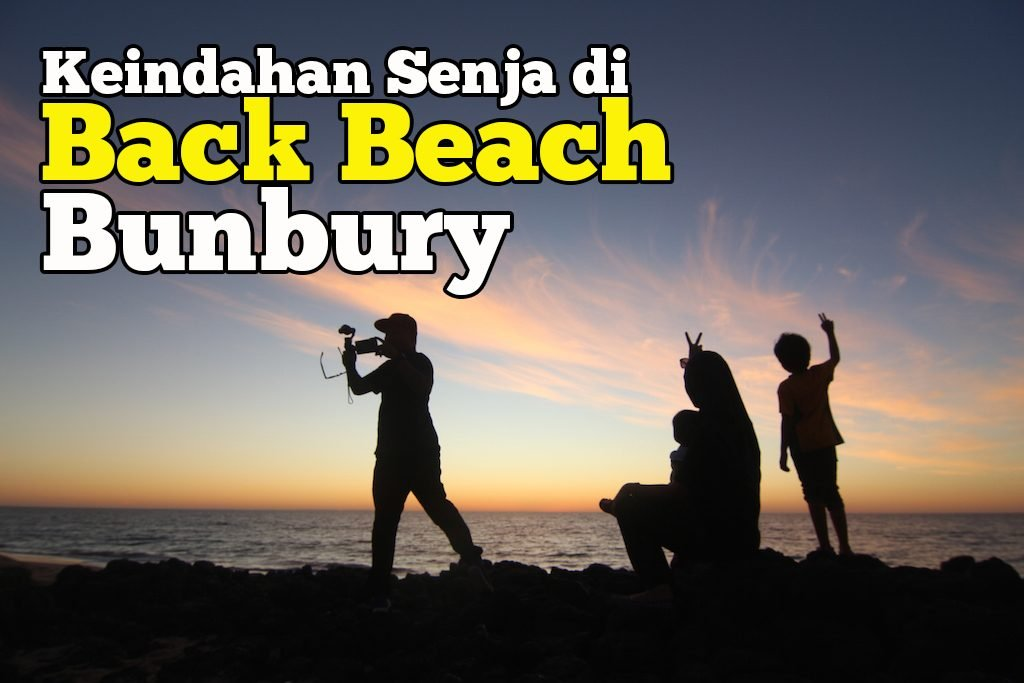 sunset di Back Beach Bunbury