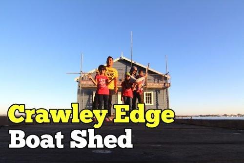 Blue Boat House Crawley Edge Boat Shed Di Perth