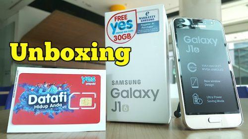 Unboxing Samsung Galaxy J1 Pakej Yes 4G 30GB Data