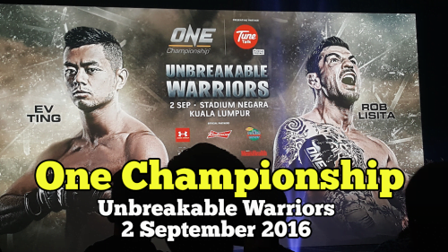 One Championship Unbreakable Warriors Tembung EV Ting vs Rob Lisita