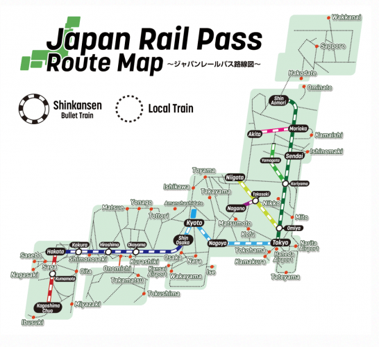japan-rail-pass-route
