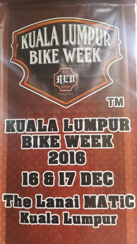 Kuala Lumpur Bike Week 2016 Edisi Ke-9