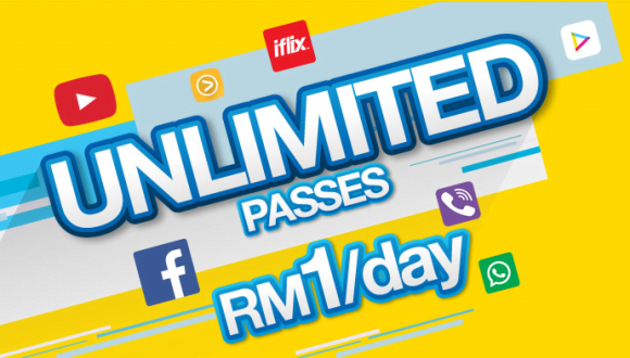 DiGi Prepaid Menawarkan Pass Harian Tanpa Had Dengan Nilai RM1 Sahaja