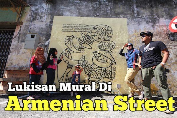 Bergambar Dengan Lukisan Mural Di Lebuh Armenian George Town