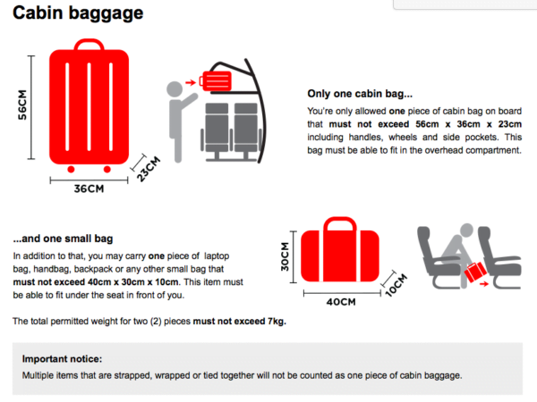 AirAsia New Cabin Baggage Policy