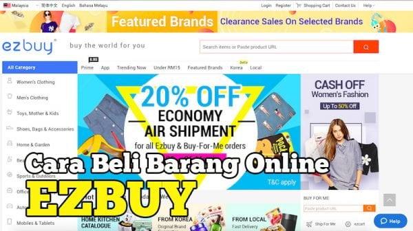 Cara Beli Barang Online Di EZBuy Malaysia Bayar Guna maybank2u