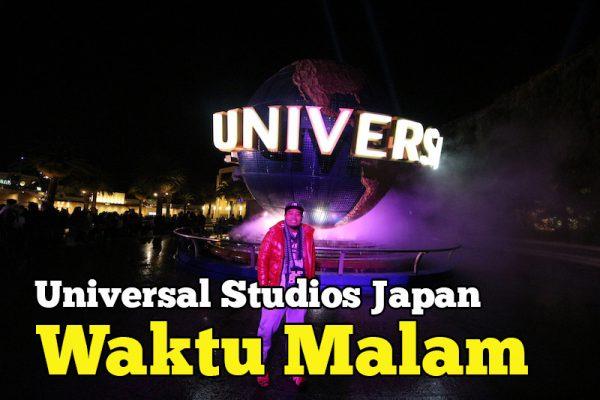 Pemandangan Universal Studios Japan Waktu Malam