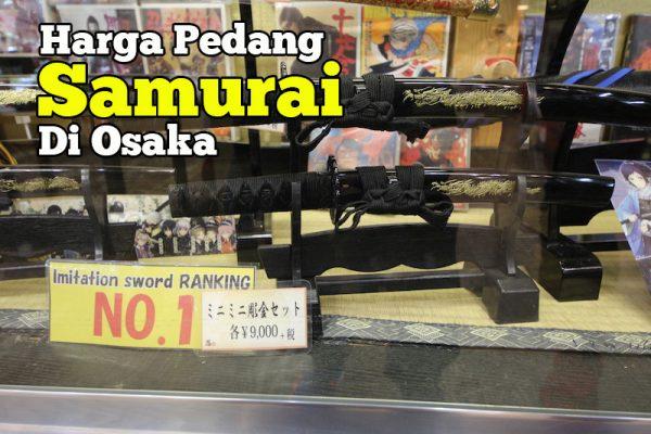 Harga Pedang Samurai Di Tempozan Marketplace Osaka