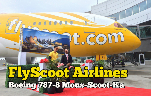 Scoot Airlines Boeing 787-8 Mous-Scoot-Ka For Long-Haul Services