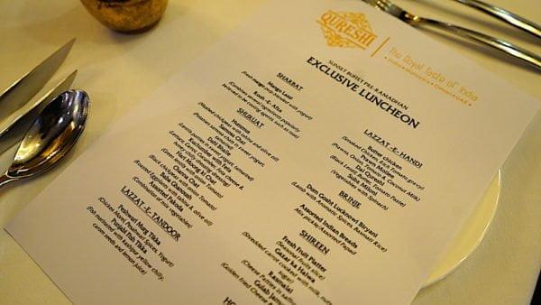 qureshi malaysia menu