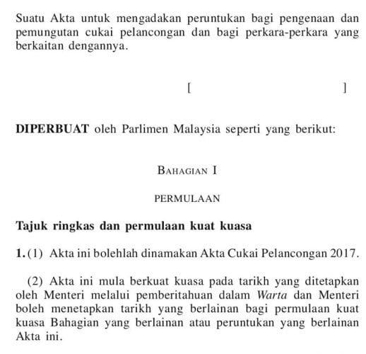 cukai pelancongan malaysia
