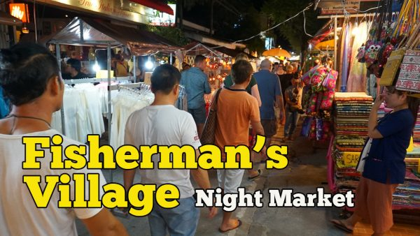 Fisherman's Village Night Market Koh Samui Thailand